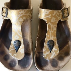 Birkenstock Shoes - Birkenstock Papillio Gizeh gold flower Sz 38 (8)